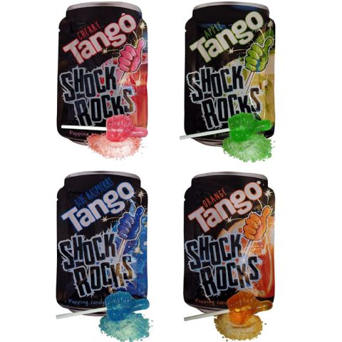 Tango Shock Rocks Popping Candy & Lollipop 13g